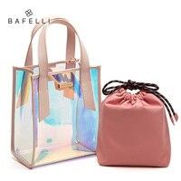 BAFELLI Для женщин прозрачный сумочка ясно желе Курьерские сумки лазерной голографической сумки на плечо ПВХ искусственная кожа Tote
