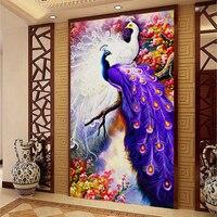 5D Diy Diamond Painting Peacock Pictures Christmas Gift Diamond Home Decor Forest Love Peacock Bird Couple