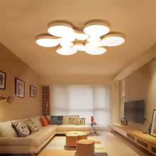 Modern LED Dimmer Switch Art Ceiling Lamps Chandeliers Simple Master Bedroom Warm Romantic Wedding Room Study Lamp Avize