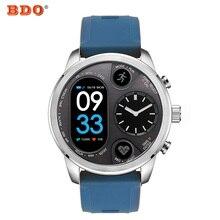 T3 Híbrido Esporte relógio Inteligente Atividade de Fitness Rastreador IP68 15 Dias de Espera À Prova D' Água de Aço Inoxidável BORDA N10B Smartwatch