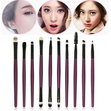 hot deal buy 10 pcs pro women makeup brushes tools for eye shadow lip gloss concealer highlighter cosmetics eyeshadow makeup tools new