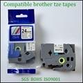 Лента brother tze черного цвета  24 мм  сверхпрочная клейкая лента для p touch maker tze s251 tze-s251 tz-s251 tze s251