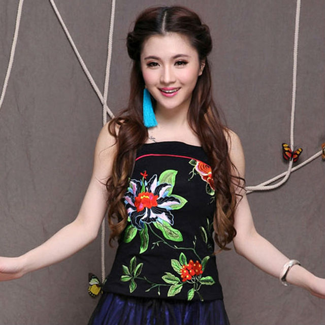 Hot 2017 Most Popular New Product Women Chinese Style Vintage Embroider Tops Girl Elegance Pure Cotton Multicolor Casual Vests