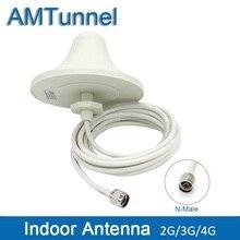 4G LTE מקורה תקרת אנטנת 2G 3G UMTS אנטנת 5M כבל N זכר מחבר עבור נייד אותות בוסטרים משחזר מגבר
