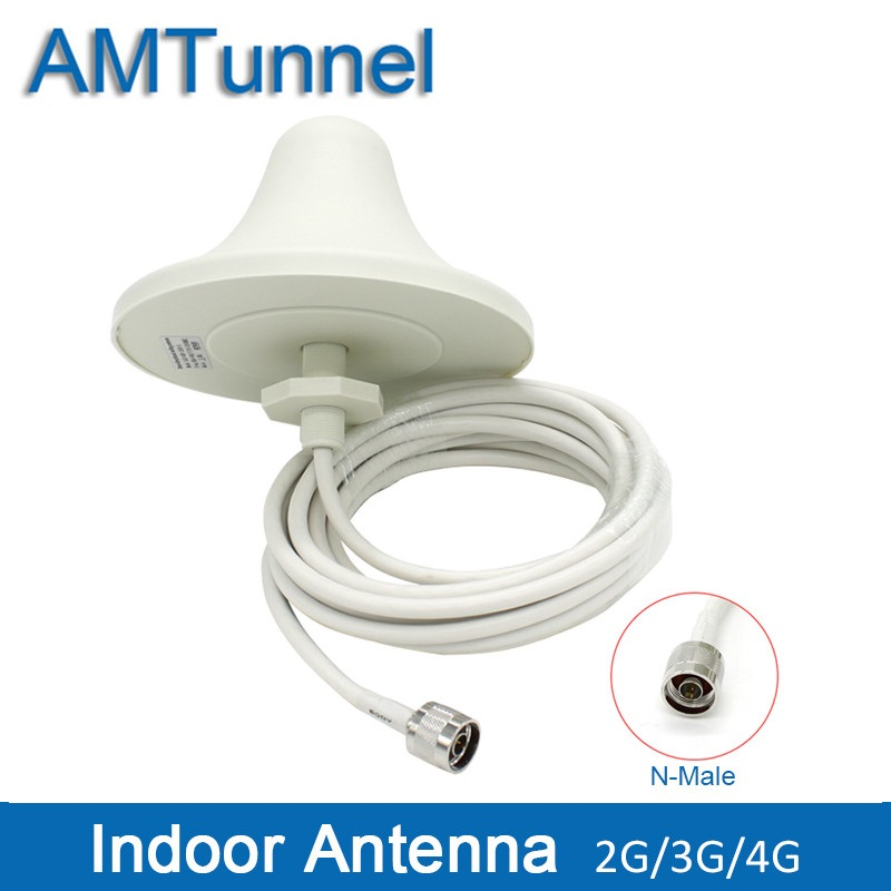 4G LTE Indoor Ceiling Antenna 2G 3G UMTS 4G antenna 5M cable N male - Communication Equipment