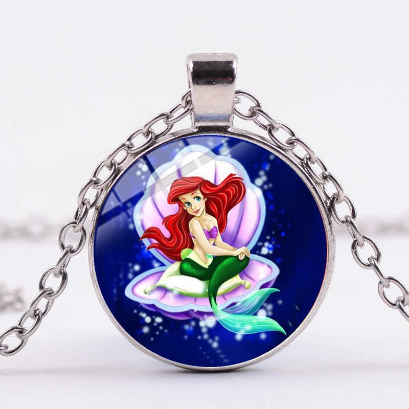 SONGDA 新着美しい人魚ネックレスリトルマーメイドアリエル姫アニメフィルム宝石ペンダント子供の女の子のギフトジュエリー