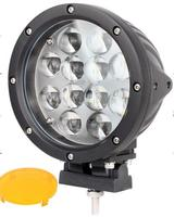 7inch round 60W LED DRIVING LIGHT LED WORK LAMP with Yellow cover 5000Lm For Truck Waterproof Dustproof Shockproof