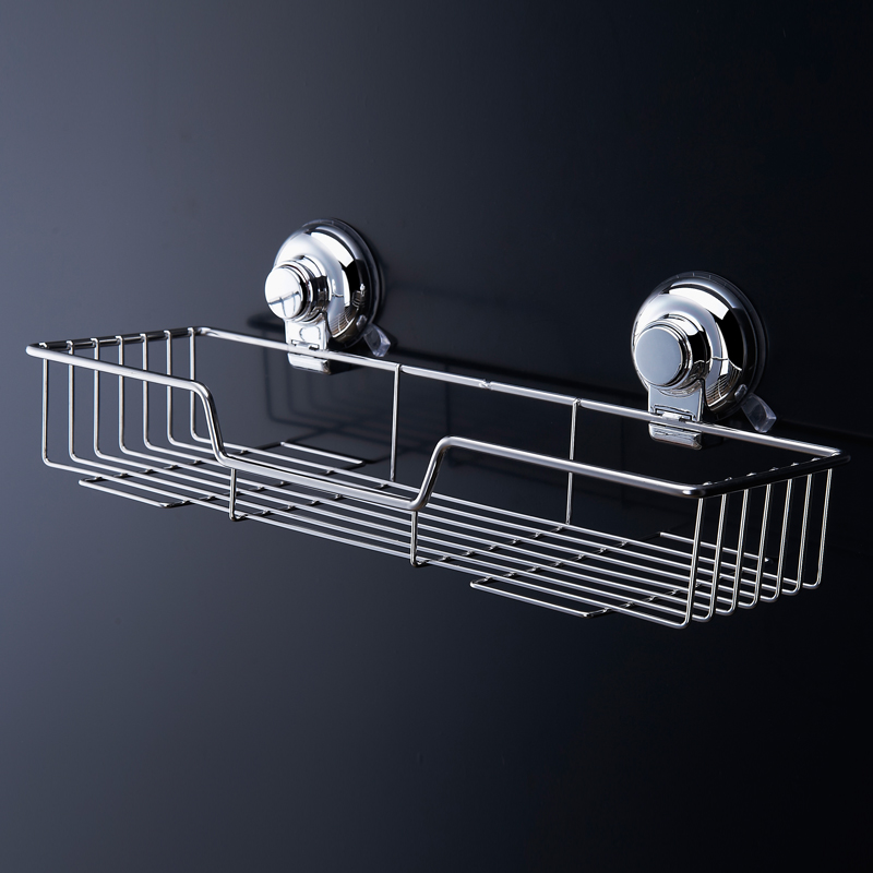 Top Grade Popular Space stainless <font><b>steel</b></font> Bathroom Shelf Bath Shampoo Rack <font><b>Towel</b></font> Basket Wall Mounted Bathroom Wall Shelves