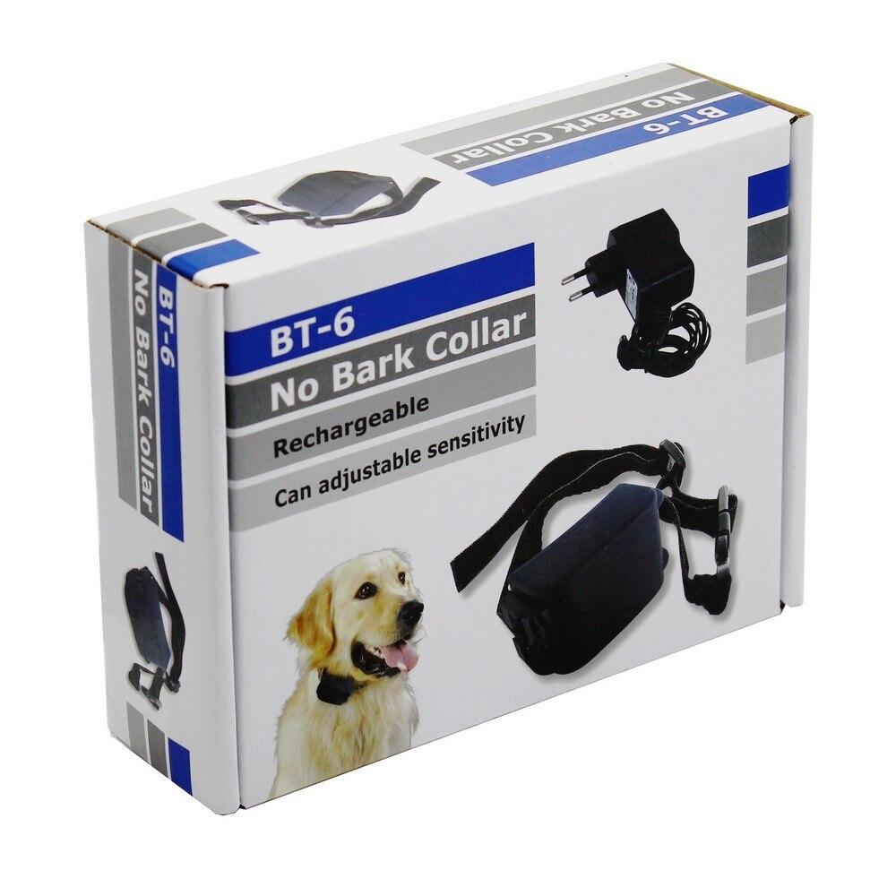 Pet Dog Training Collars Rechargeable Electric Anti Bark Stop Collar Shock Sound Auto Anti Bark Sensitivity Adjustable BT-6