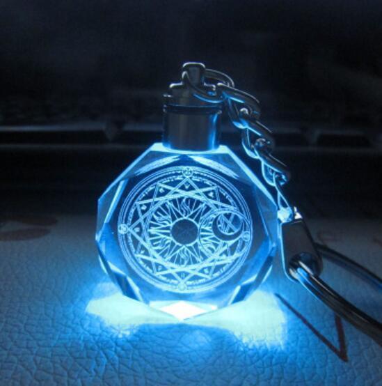 аниме Брелок светодиодный кристалл Сакура собирательница карт в ассортименте 1
