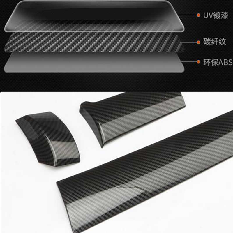 Carbon Fiber Smart Door Handle Covers Trims For Dodge Durango Avenger Caliber