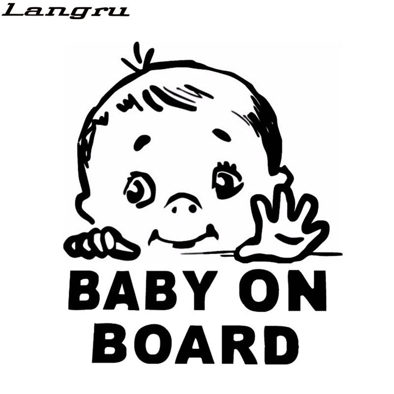 Car Window Signs & Decals White Babies On Board Baby Car Sticker Sign Safety Vinyl Decal Baby Safety & Health