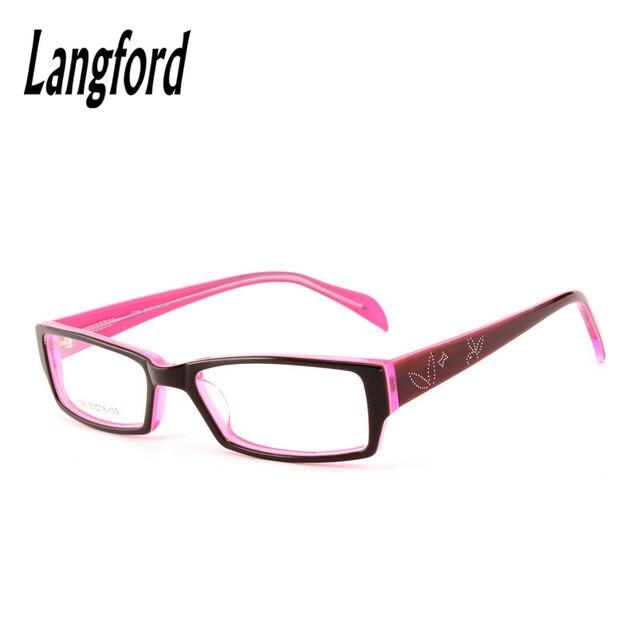 Оптических оправ женщины полный очков Очковые Оправы ацетат очки прямоугольник маленькое лицо бизнес очки по рецепту красный 1096