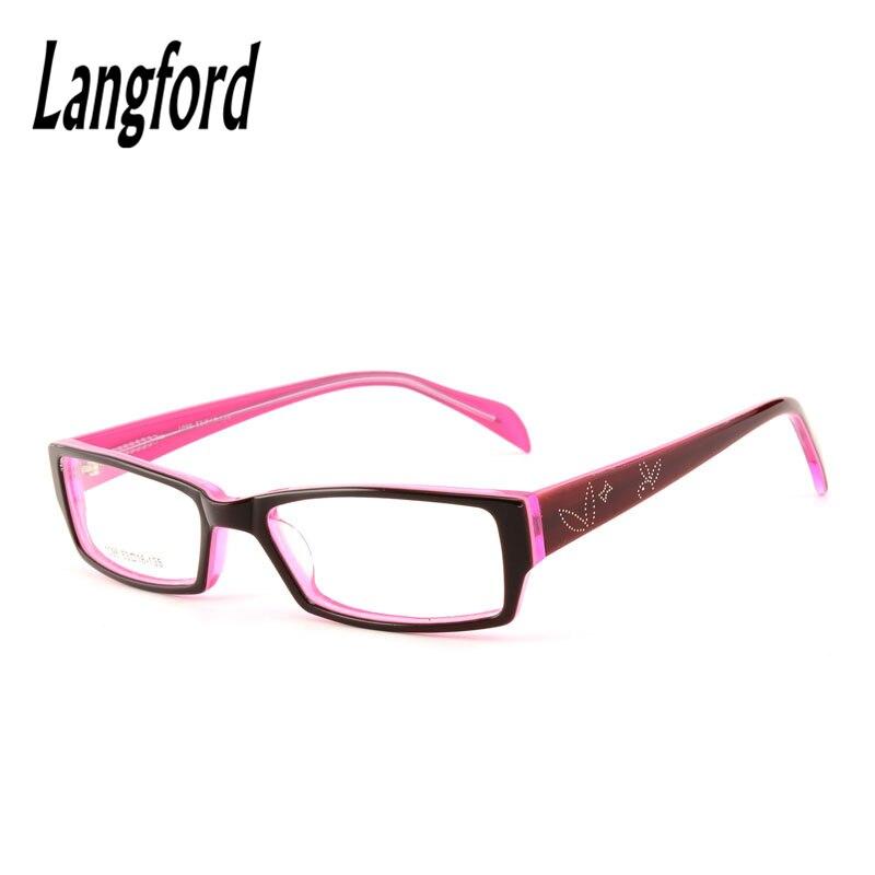 5270585399013b Optique cadres femme pleine lunettes monture de lunettes acétate lunettes  rectangle petit visage affaires lunettes prescription rouge 1096