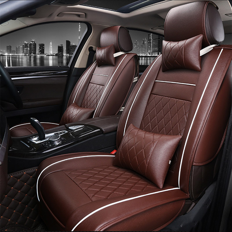 Universal PU Leather car seat covers For Ford mondeo Focus 2 3 kuga Fiesta Edge Explorer fiesta fusion car accessories styling tonlinker 3 pcs diy car styling pu leather full surround special food mat cover case stickers for ford fiesta 2013 accessories