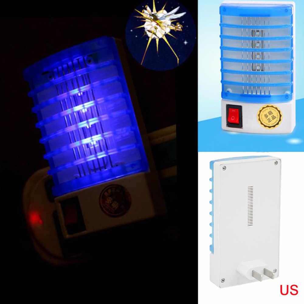 1Pcs Plug Socket Elektrische Mini Muggen Lamp LED Insect Mosquito Repeller killer Fly Bug Insect Night Lamp Huisvlieg