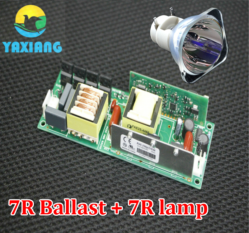 7R Power Supply with 7R 230W Moving Head Beam Lamp Bulb Stage Lampsc+ Ballast 1pc lot MSD Platinum 7R stage light