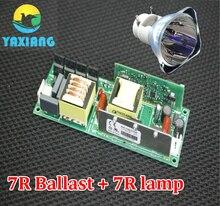 7 आर 230W मूविंग हेड बीम लैंप बल्ब स्टेज लैंपक + बल्लास्ट 1 पीसी लॉट एमएसडी प्लैटिनम 7 आर स्टेज लाइट के साथ 7 आर पावर सप्लाई