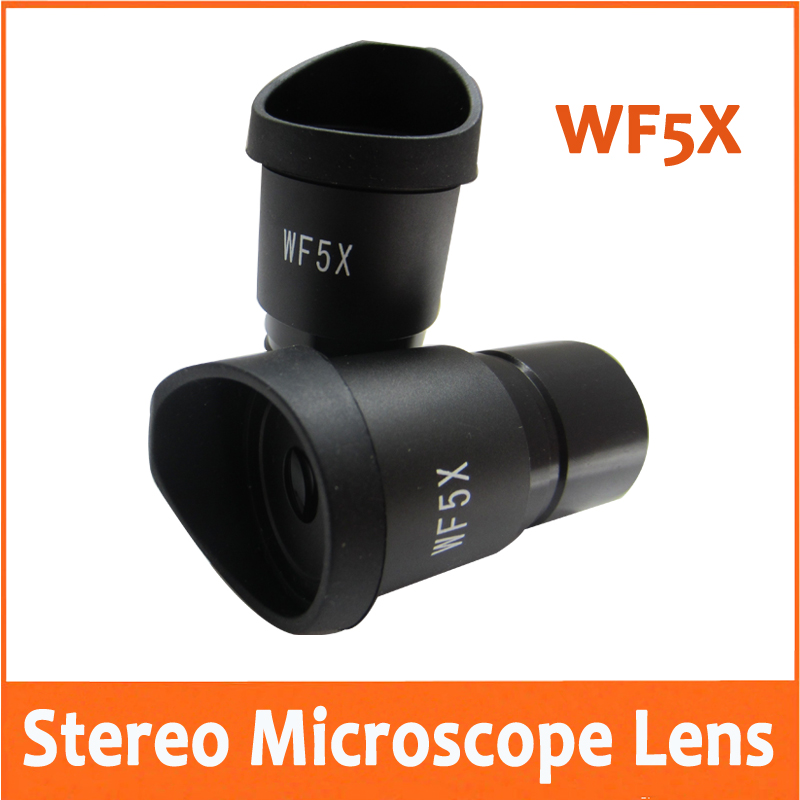 WF5X 20mm Lab Educational School Stereo Microscope Wide Angle Eyepiece Optical Lens 30.5mm With Rubber Eyecup Eye Guards