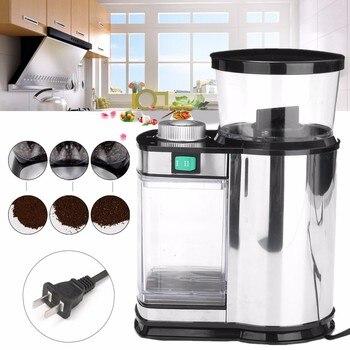 220V US Plug Stainless Steel Electric Coffee Grinder Salt PepperHerbsSpicesNutsGrainsCoffee Bean Grinding Machine spices grinder machine