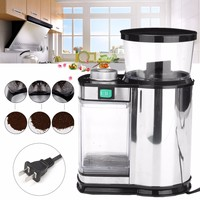 220V US Plug Stainless Steel Electric Coffee Grinder Salt Pepper/Herbs/Spices/Nuts/Grains/Coffee Bean Grinding Machine