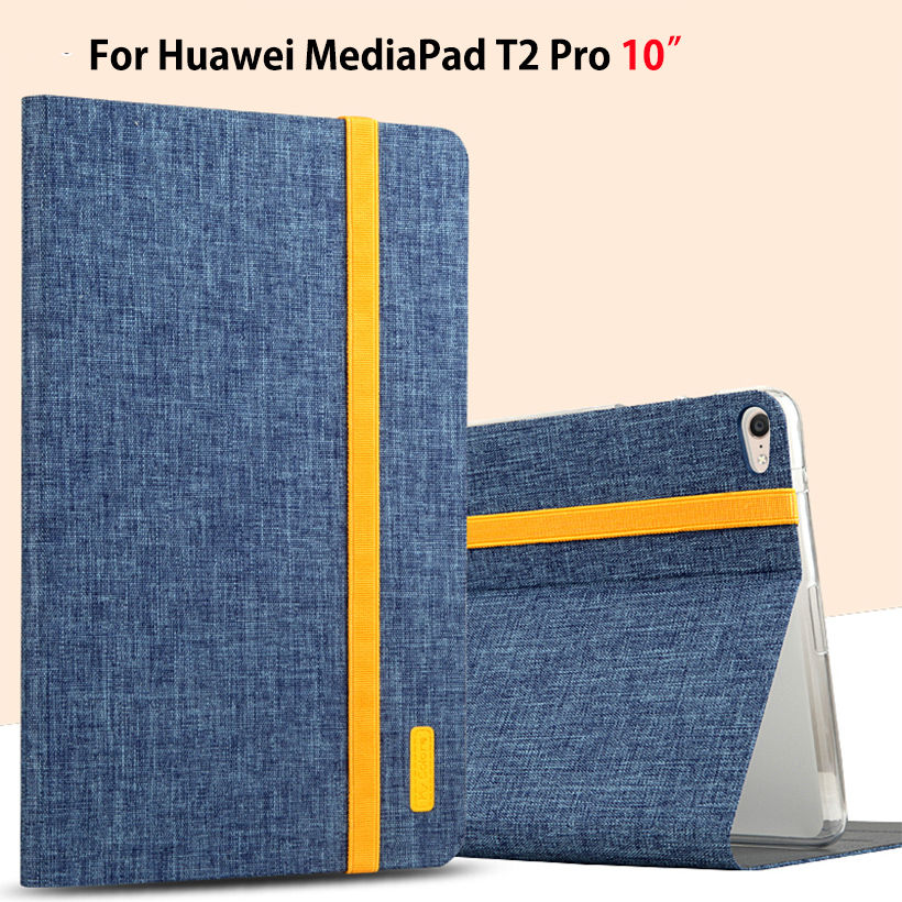 Super Slim Cover For Huawei MediaPad T2 10.0 Pro Tablet FDR-A01L A01W FDR-A03L Case PU Leather Silicone Stand Capa Shell Funda image