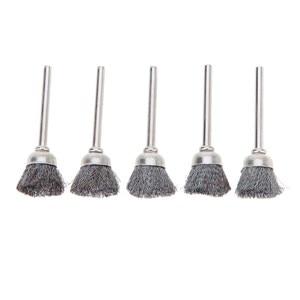 Image 1 - 10 adet paslanmaz çelik tel tekerlek fırça seti seti Dremel aksesuarları Mini matkap döner araçları parlatma dremel fırça