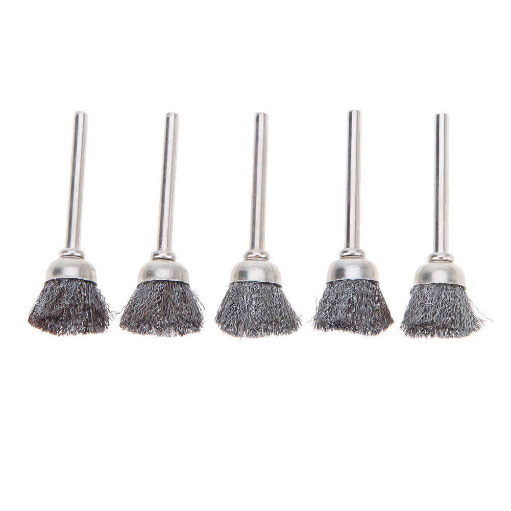 10pcs Stainless Steel Wire Wheel Brushes Set Kit Dremel Accessories for Mini Drill Rotary Tools Polishing dremel Brush 7 in 1 high speed steel milling cutters rotary file polishing wire brush set silver