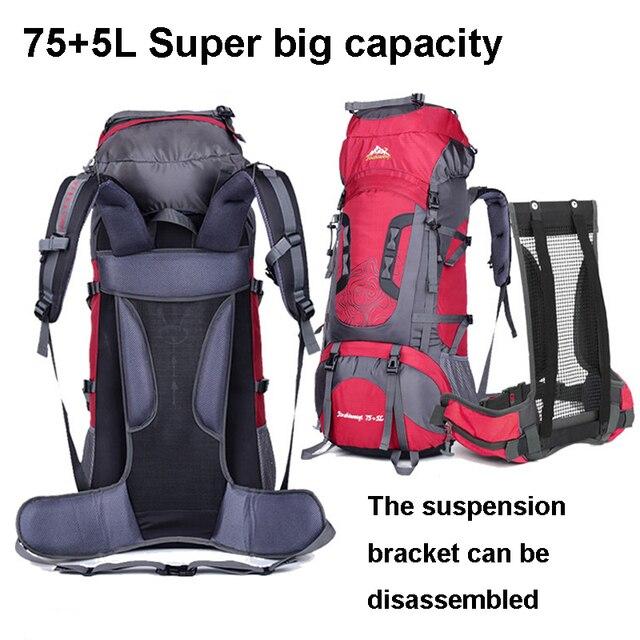 80L saco Grande Saco Montanhismo Profissional Mochila Ao Ar Livre À Prova D' Água sacos de Escalada Caminhadas Camping bagpack
