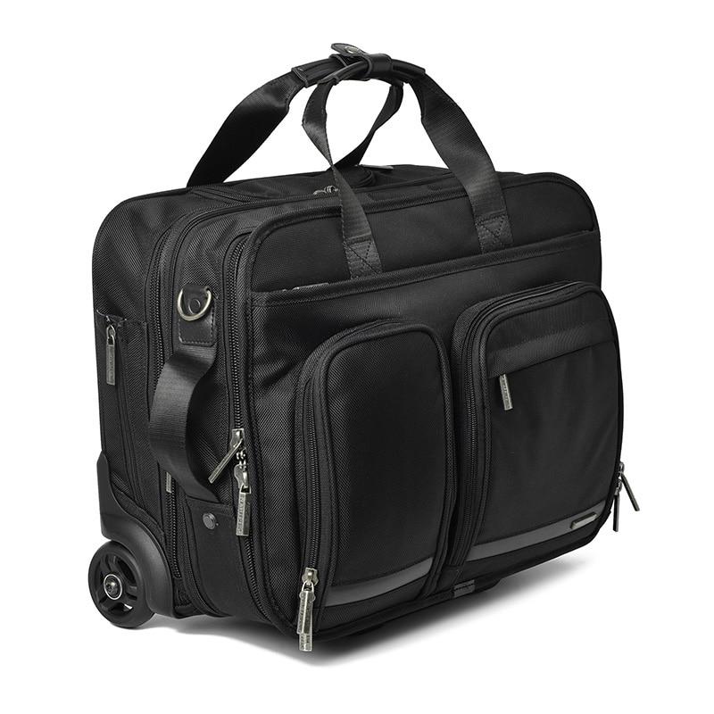 CARRYLOVE 16 zoll business reise Roll Gepäck Multifunktions Koffer Räder Männer Tragen auf Trolley pilot laptop tasche Reisetasche-in Rollgepäck aus Gepäck & Taschen bei  Gruppe 1
