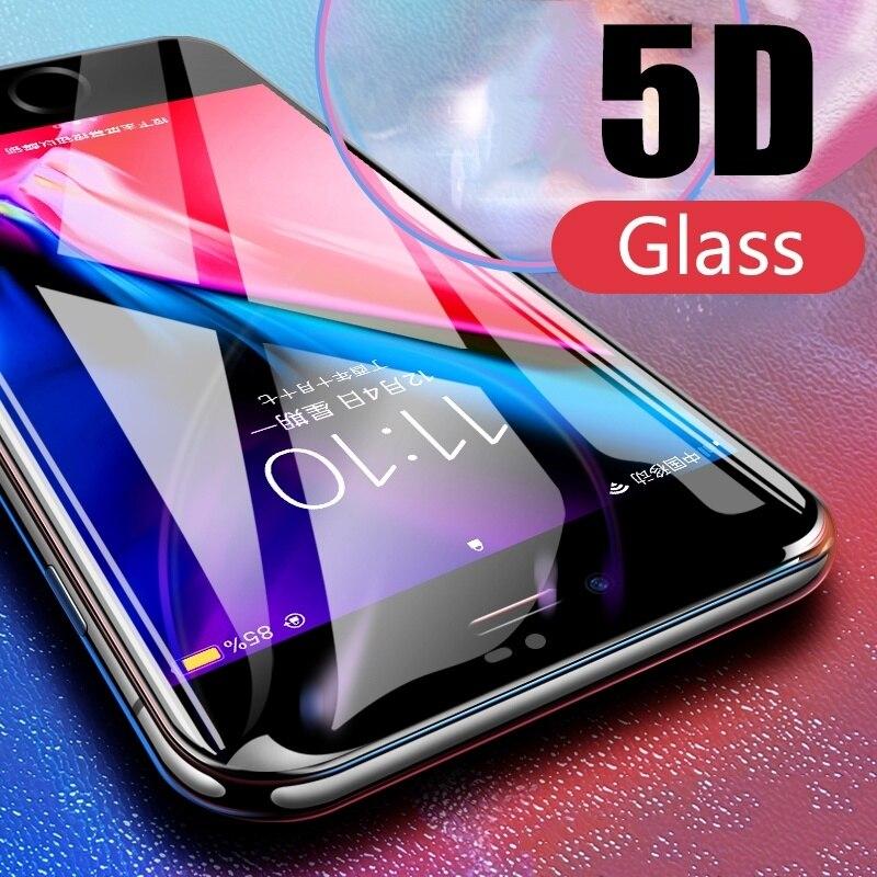 db66affeaa8 Protector de Pantalla de película de vidrio templado 5D para vidrio  Protector de vidrio iPhone 7 plus para iPhone 6 plus Protector de Pantalla