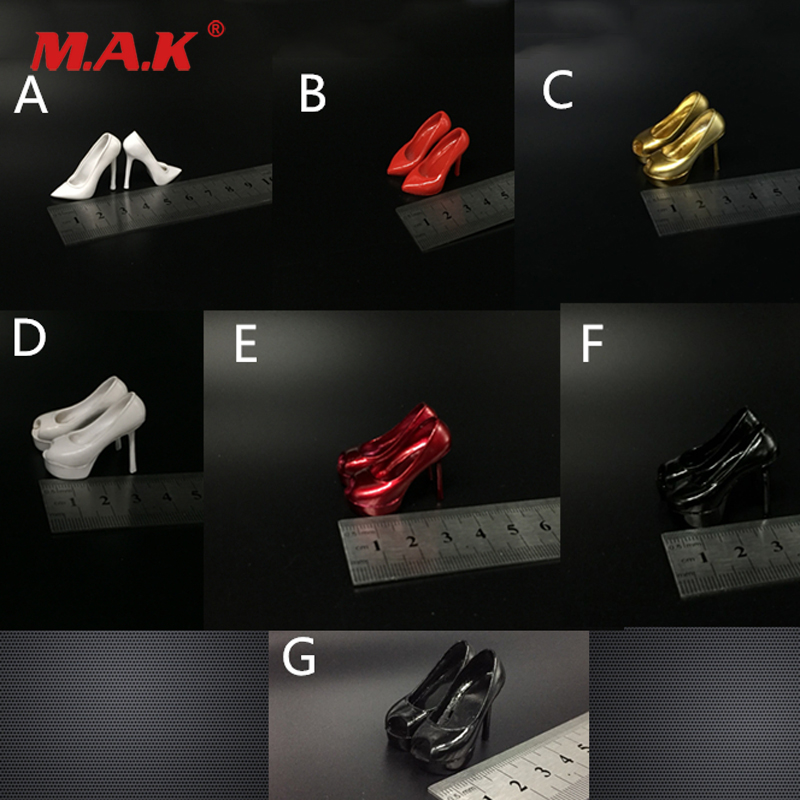 New Arrive 1/6 Scale Woman High Heel Shoes Female Soldier Accessories 7 Styles For 12 Inches Action Figure Body Toys & Hobbies