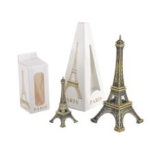 Home Desk Decoration 8/15cm Paris Eiffel Tower Figurine Statue Vintage Decor Model Art Crafts Creative Gifts Souvenir Brown