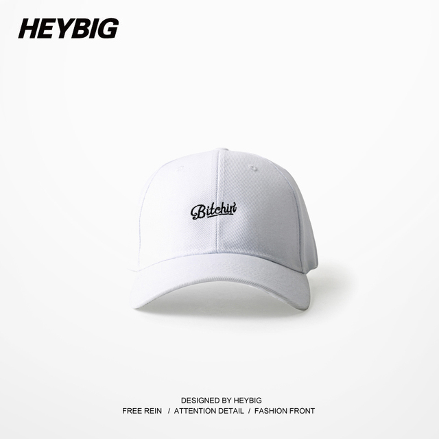 Curved Brim Dad cap embroidery 6 panels hat HEYBIG baseball caps Adjustable Comfortable Headwear Hip hop FUN Bone Carton Pack