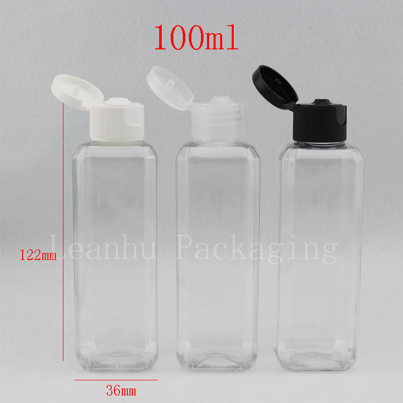 Clear Shampoo Plastic Travel Packing Bottles With Flip Top