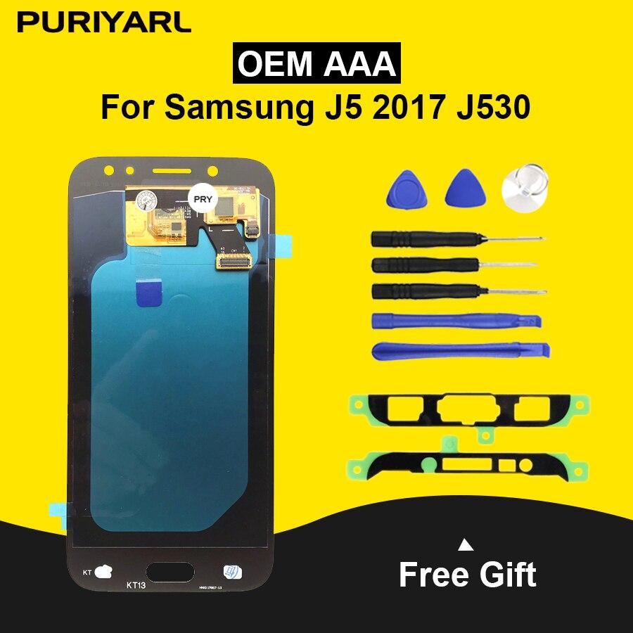 AAA AMOLED LCD pour Samsung Galaxy J5 2017 J530 J530F J530M LCD écran tactile numériseur assemblage réglage de la luminosité