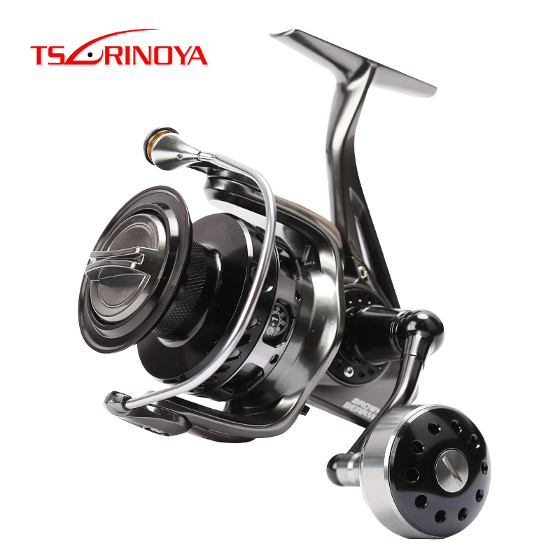 Tsurinoya Reel RBROWN BEAR4000 5000 6000 7000 10BB/5.2:1 4.9:1/12-20kg altwater Spinning Fishing Lure Reel Full Metal Wheel