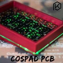 Cospad Tùy Chỉnh Cơ Bộ lên TP 24 phím Hỗ Trợ TKG TOOLS Underglow RGB PCB 20% được lập trình Numpad XD21 XD24