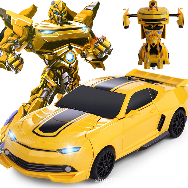 цена на Remote control car,A key control deformation car people,Deformation of the robot,Children's toys