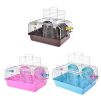 2 Rooms Hamster House Transparent Cabin Cage for Hamster Small Animals Emotional training Portable Pet Hamster Cage Marriage