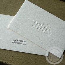Niestandardowe wizytówki najwyższej jakości matowe wizytówki drukowanie naturalnych kart wcięcia eleganckie karty dwustronny druk