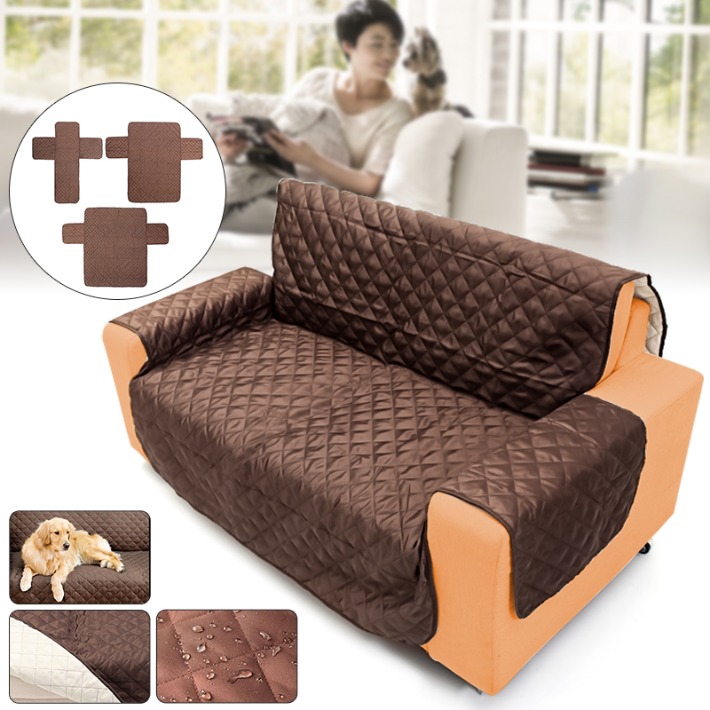 Waterproof Quilted Sofa Cover For Dog Pets Living Room