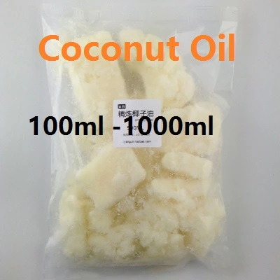 Cosmetics YAFUYAN 100ml -1000ml Coconut Oil Skin and Hair Care System DIY Soap Raw Materials Refined Coconut Oil and Base Oil