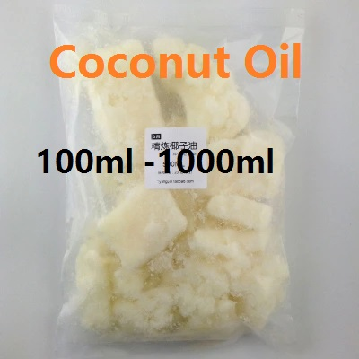 Cosmetics YAFUYAN 100ml -1000ml Coconut Oil <font><b>Skin</b></font> and Hair Care System DIY Soap Raw Materials Refined Coconut Oil and Base Oil