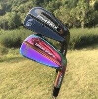 2018 Yeni golf ütüler datang ejderha kafatası dövme seti (3 4 5 6 7 8 9 Pw) orijinal dinamik altın S300 çelik mil golf kulüpleri ile