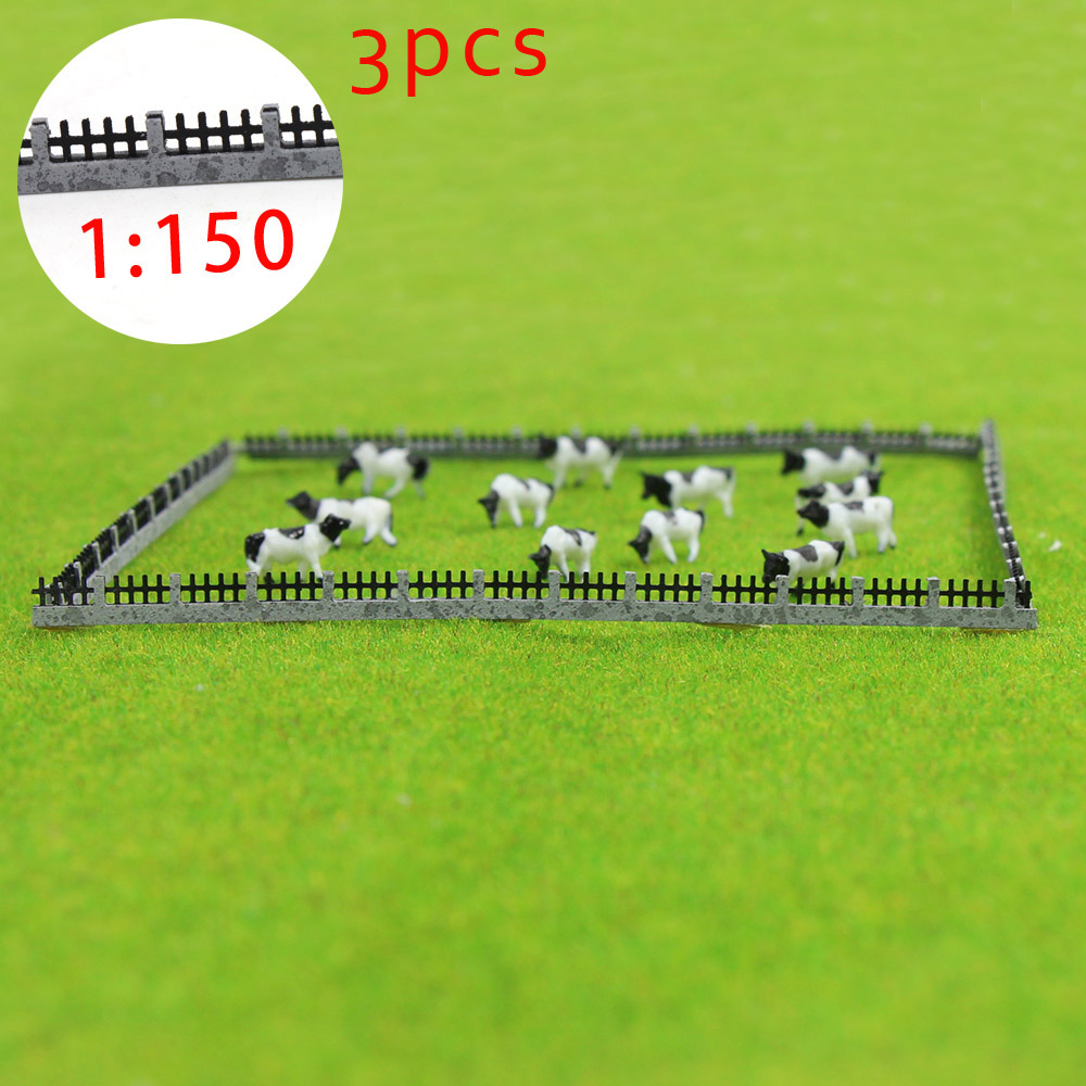 3PCS 35cm Fences Model Train Railway Building Fence Railing 1:150 N Scale New GY47150 model building kit railway modeling