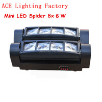 Free Shipping HOT Sale NEW Moving Head Light Mini LED Spider 8x10W RGBW 4in1 Beam Light