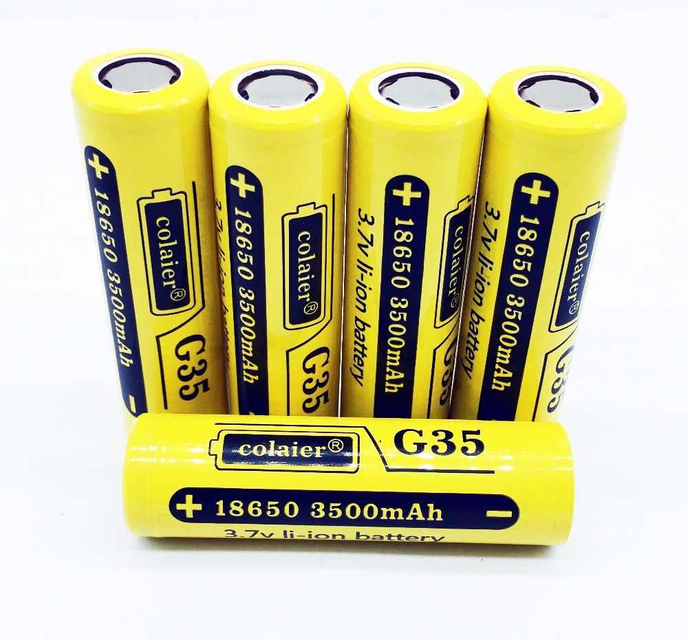 Colaier G35 18650 3500 mAh 3,7 V литий-ионный аккумулятор Перезаряжаемые Батарея 20A Литиевые Батарейки высокой емкости для Flashinglight