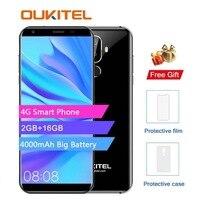Oukitel K5 4G 5,7 дюймов 18:9 дисплей MTK6737T мобильный телефон Android 7,0 2G 16G четырехъядерный 4000 mAh 3 камеры отпечатков пальцев Смартфон
