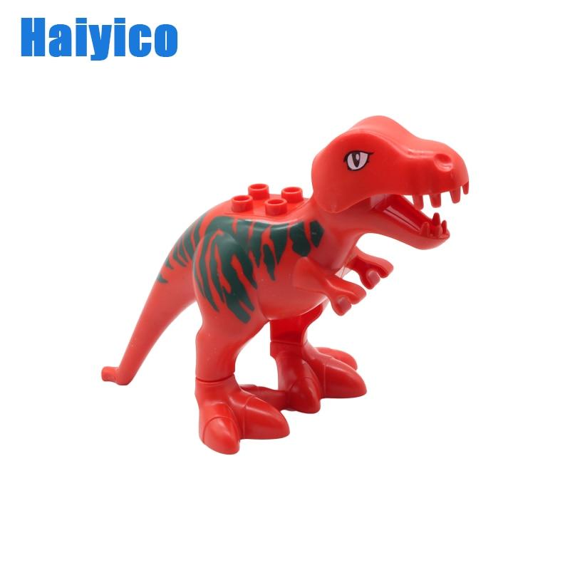 Большой образование частиц блоки динозавра Юрского периода аксессуары совместимы с Duplos кирпичи яйцо ребенка просветить прочный игрушки подарок